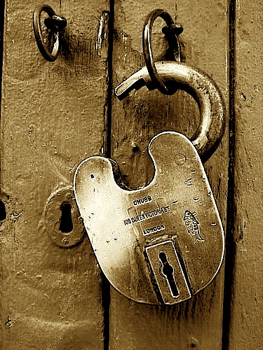 image of an open lock